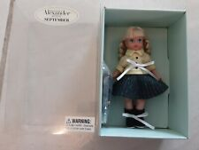 New Listing2002 Madame Alexander Calender Girls September in Box 5 Inch, Back to School