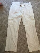 Polo Jeans Co. Ralph Lauren Women's Ivory Convertable Cargo Belted Pants Sz 12