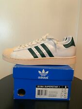 ADIDAS SUPERSTAR 1 WHITE/DARKGREEN NEW SZ 9.5