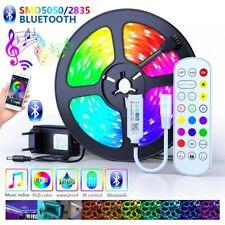 Bande LED Ruban LED RGB 5050 Décoration Flexible Télécommande Bluetooth 5M-30M