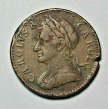 Charles II - farthing 1672 - no stops on obverse, Peck 520, rare