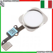 TASTO CENTRALE HOME e Pulsante COMPLETO FLAT FLEX IMPRONTA PER IPHONE 6 /6 PLUS