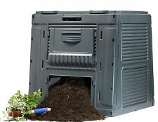 Keter Compost Bin With Base & Top Garden Waste Composter 120 Gallon 16 Cu.Ft.