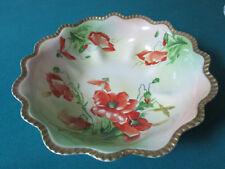 "Rudolstadt Pottery Prussia Roses Platter 10 1/2"""