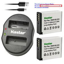 Kastar Battery Oval USB Charger for DMW-BLG10 BLG10E & Panasonic Lumix DMC-GX7K