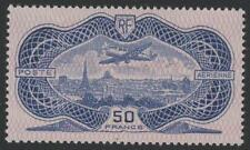 "FRANCE STAMP YVERT AVION 15  SCOTT C15 "" MONOPLANE 50F ULTRAMARINE 1936"" MNH VF"