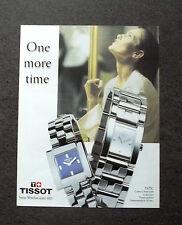 [GCG] K332- Advertising Pubblicità -anni '90- TISSOT TATIC , ONE MORE TIME