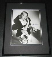 Elyse Knox Signed Framed 8x10 Photo