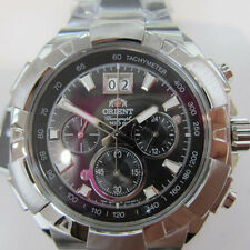 ORIENT JAPAN MEN'S WATCH CHRONO ALL S/S ORIGINAL FTV0003B0 NEW