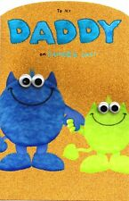 To My Daddy On Father's Day Card Cute My Monster Greeting Fathers Daddys Cards