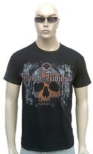 Bravado Official Harley Davidson Stained calavera Vintage VIP camiseta S