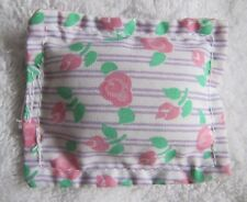 Fisher Price Loving Family Dollhouse BED FLORAL PILLOW with FLOWERS for Bedroom