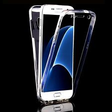 Clear Front+Back Full Body Protective Case For Samsung Galaxy S8 S7 Edge A5 2017