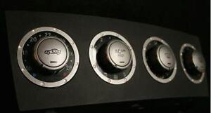 4 Alu Ornamental Rings for AC Switches for Mercedes Benz SLK R171 Interior Trim