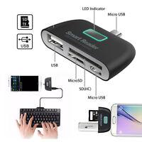 OTG Micro USB SD TF MMC Card Reader USB Female Adapter For Samsung S7 S6