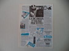 advertising Pubblicità 1986 CASCO HELMET ARAI e FREDDIE SPENCER