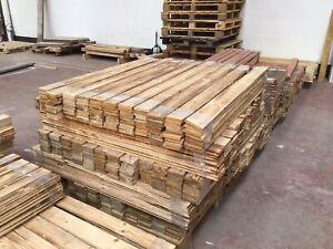 Rustic Pallet Wall Cladding NEW TIMBER NATURAL WOOD SANDED- No Nails
