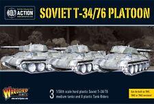 28mm Bolt Action Russian T34/76 Medium Tank Platoon WWII