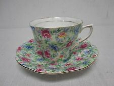VINTAGE ROSINA ENGLISH CHINTZ PRETTY FLOWER TEA CUP & SAUCER