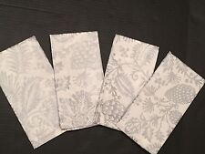 Williams Sonoma Pinecone Napkins set of 4 New Silver Sparkle Shimmer