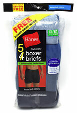 10 Hanes Blue XL 40-42 Inch Boxer Brief Tagless Comfortsoft Waistband 100-105 CM