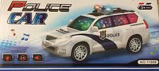 Police Car BUMP 'N' GO Motorcar With Flashing Lights ON TOP battery operated 3+