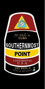 "Southernmost Point Key West Florida Souvenir 30"" x 60"" Beach Towel"