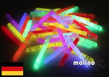 50x Mini Knicklichter, Dream Glow, Leuchtstäbe, Bissanzeiger, Glowsticks, Party