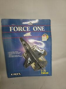 Force One F-16 Falcon Die-cast jet airplane 1989 by ERTL decals NRFB