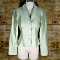 Teri Jon Rickie Freeman formal wedding light lime blazer jacket women size 8