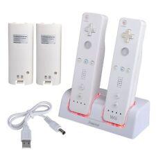 Carregador Duplo estação de carregamento doca + 2 Bateria Para Wii/Wii U controlador remoto