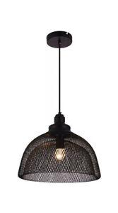 Living District LDPD2032 Warren 1 Light 14 inch Black Pendant Ceiling Light