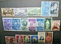 FRANCOBOLLI ITALIA REPUBBLICA 1950 ANNATA COMPLETA TIMBRATA USED (J 66)