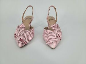 Impo Edana Women's Red Fabric Ankle Strap Kitten Heel Sandal Size US 9