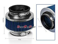 """2.5"""" Inches Cold Air Intake Bypass Valve Filter 63 mm BLUE Dodge"""