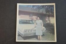 Vintage Car Photo Woman w/ 1963 Chevrolet Impala Chevy 888