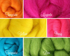 BRIGHTS Palette Wool Roving Fiber 1.5ozs / 42 grams Needle Felting Spinning Soap