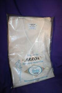 NEW Vintage 80s Arrow Ivory 2PC Pajamas Set Mens A Small short sleeve NIP Decton