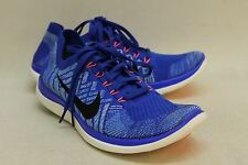 NIKE Ladies Royal Blue Free 4.0 Fly knit Lace Up Trainers Size UK6.5 EU39.5
