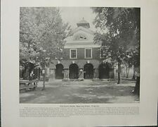 1898 PRINT + TEXT ~ OLD COURT HOUSE BOWLING GREEN ~ VIRGINIA