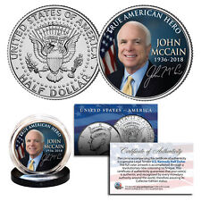 JOHN McCAIN True American Hero 1936-2018 Official JFK Kennedy Half Dollar Coin