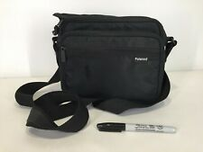 RARE Vtg POLAROID Camera Carrying Case Soft Bag Black Shoulder Retro 90s 80s