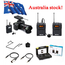 BOYA BY-WM6 Pro UHF Wireless Microphone System Lavalier for ENG EFP DSLR Camera