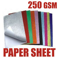 A4 50 SHEET PAPER PACK IN 15 DIFFERENT COLORS 250GSM PRINTER FREINDLY ARTS CRAFT