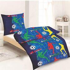 Fußball Bettwäsche 100% Baumwolle 135x200 + 80x80 cm mit Reißverschluss Öko Tex