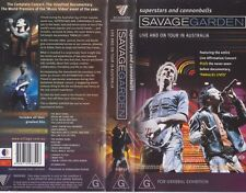 SAVAGE GARDEN SUPERSTARS AND CANNONBALLS LIVE VHS PAL VIDEO~A RARE FIND