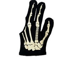 Voodoo Pool Billiards Large Glove Bone Skeleton Design Bridge Left Hand
