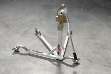 BURSIG Motorcycle Center-Lift Stand Paddock Garage Olympic White *IN STOCK*