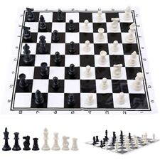 Plastic International Competition Chess Piece with Chess Board Set Game Toy Gift