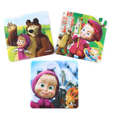 3PCS/Lot Paper jigsaw puzzles for children kids toys Masha and Bear Kids Puzzle